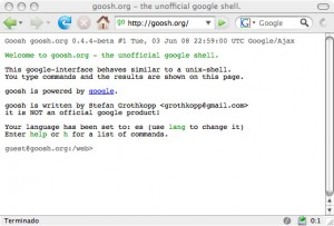 goosh.org - the unofficial google shell.